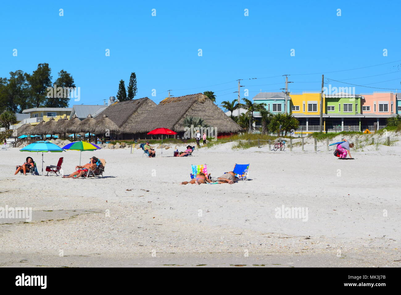 Bradenton Beach On Anna Maria Island In Florida Colorful Small Town