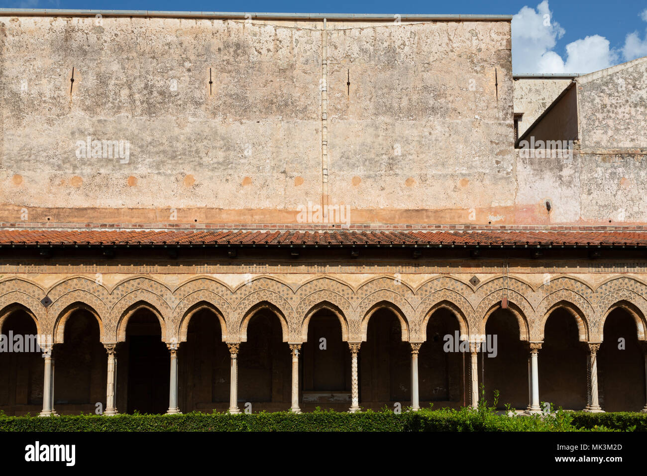 Cloisters of Monreale, Sicily,  Italy - Stock Image
