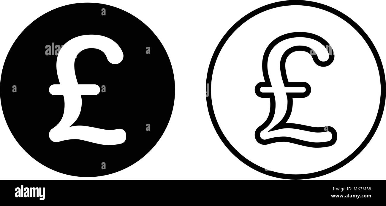 Pound Sterling Currency Symbol Icon Isolated On White Background