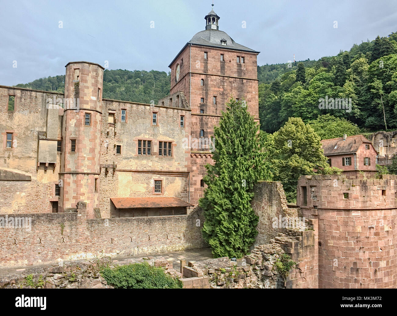 Hiedleberg is a medium sized old City in Germany - Stock Image