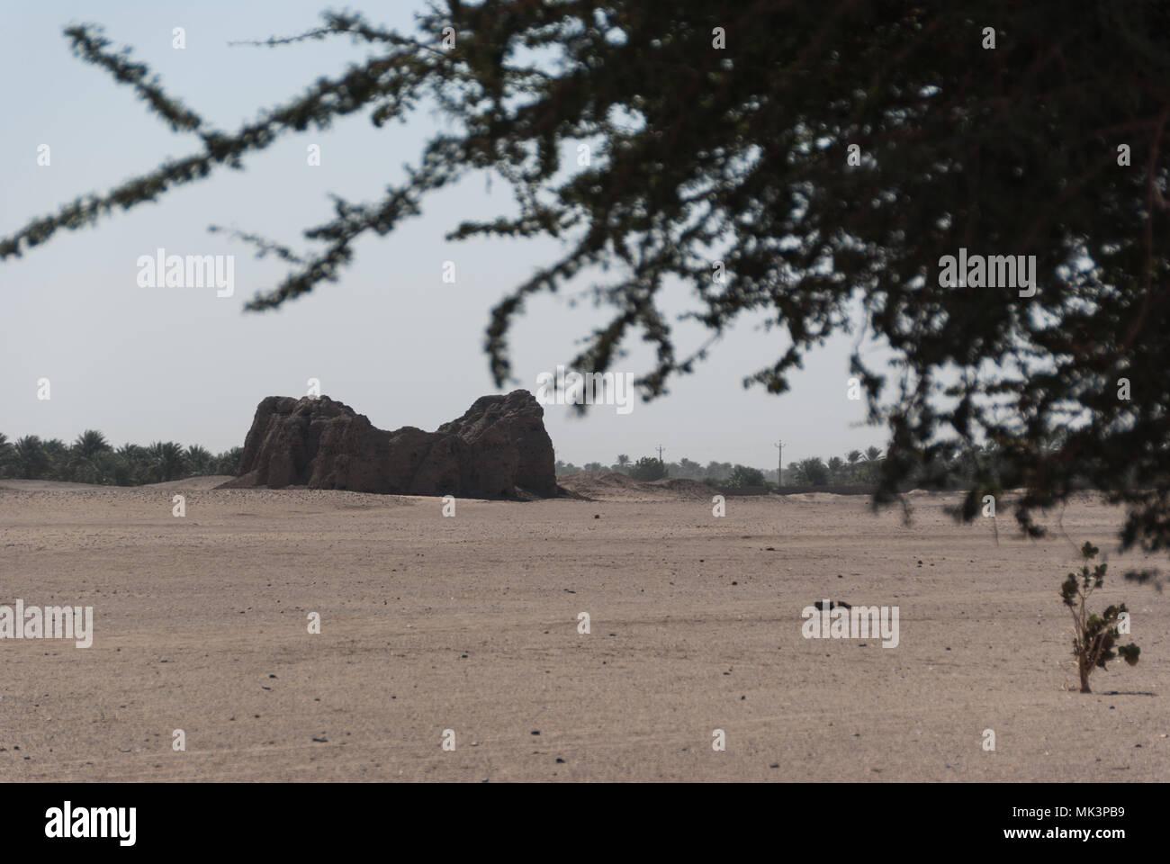 Eastern Deffufa near Kerma, Sudan - Stock Image