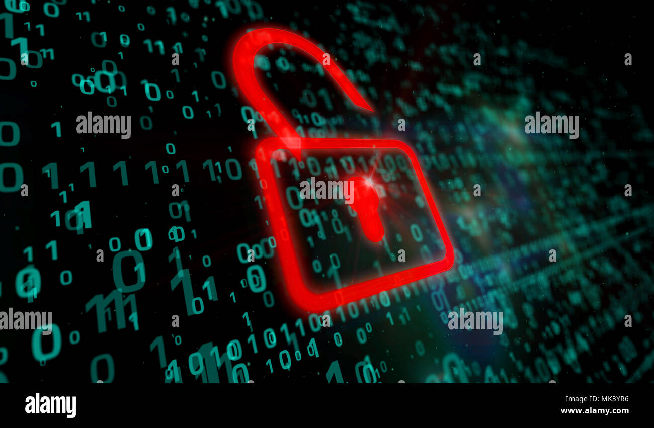 cyber security concept red padlock icon on digital background in 3dred padlock icon on digital background in 3d perspective view symbol of technology protection