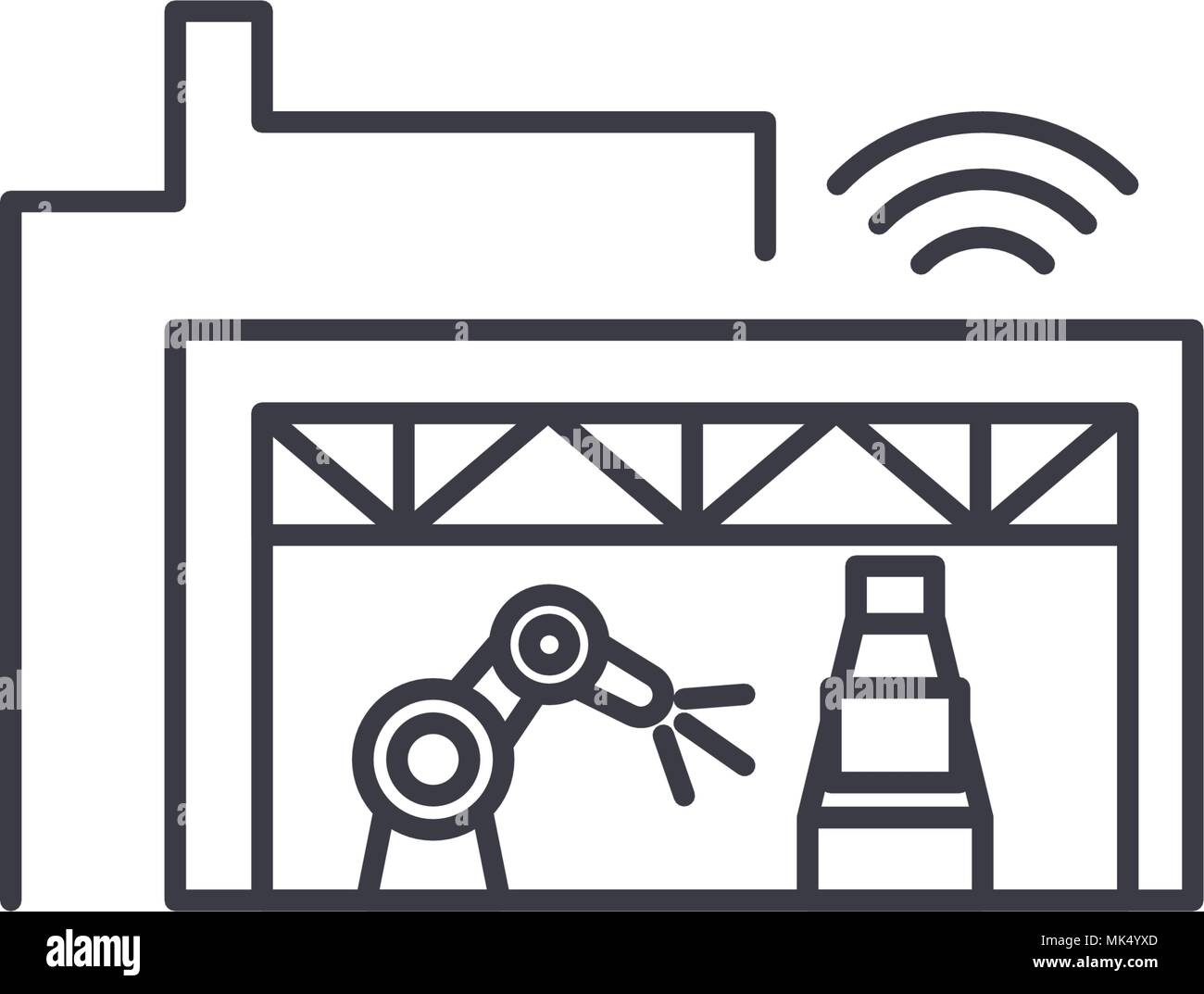 Assembly Icon: Automotive Plant Stock Vector Images