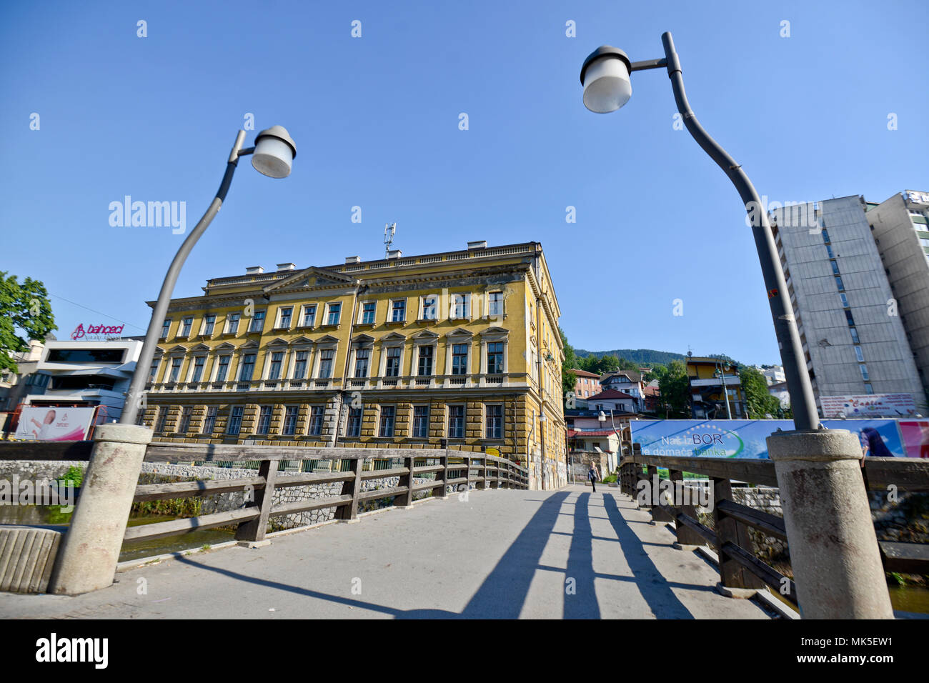 Central Post Office, Sarajevo, Bosnia - Stock Image