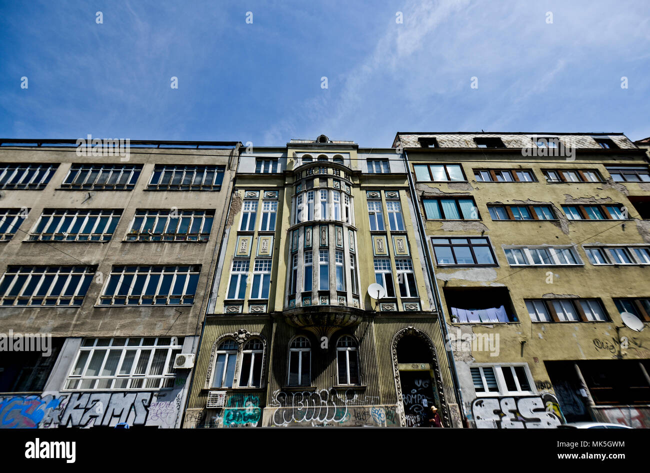 Obala Kulina bana, Sarajevo, Bosnia - Stock Image
