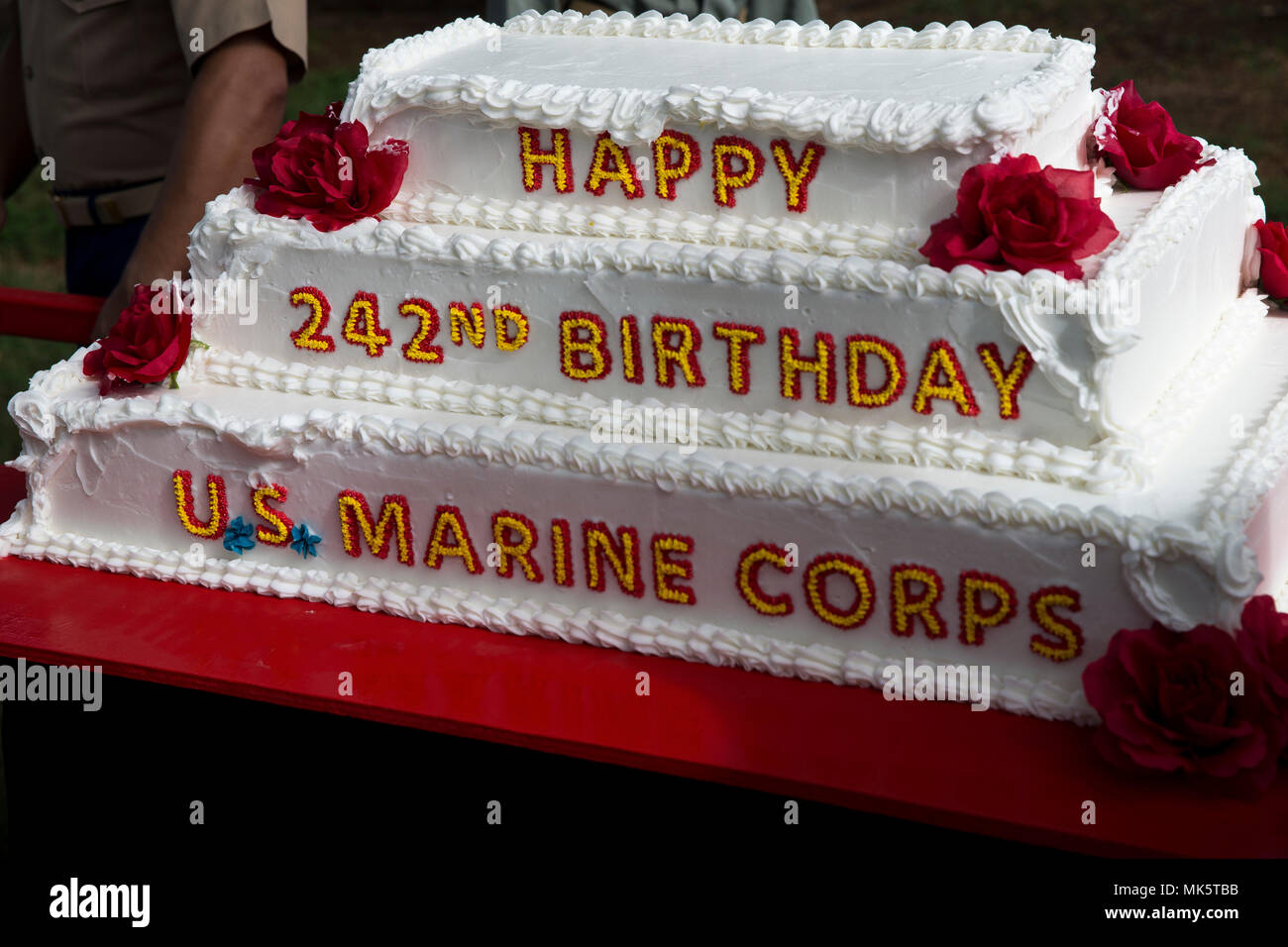 The Birthday Cake Is A Ceremonial Element Of Annual US Marine Corps Pageant Base Hawaii Nov 9 2017