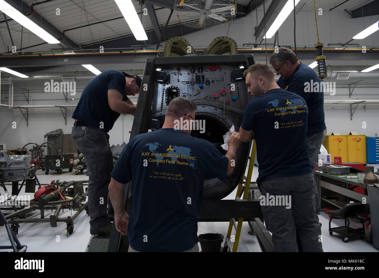 Wiring Harness Stock Photos Images Alamy For Vehicle James Duty An Airplane Mechanic Contracted Through Kay And Associates Inc Clips A