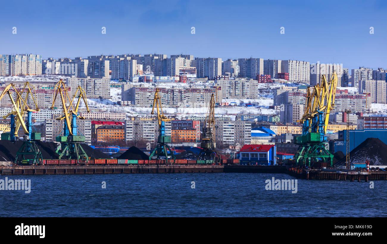 panoramic view Murmansk, Russia - Stock Image