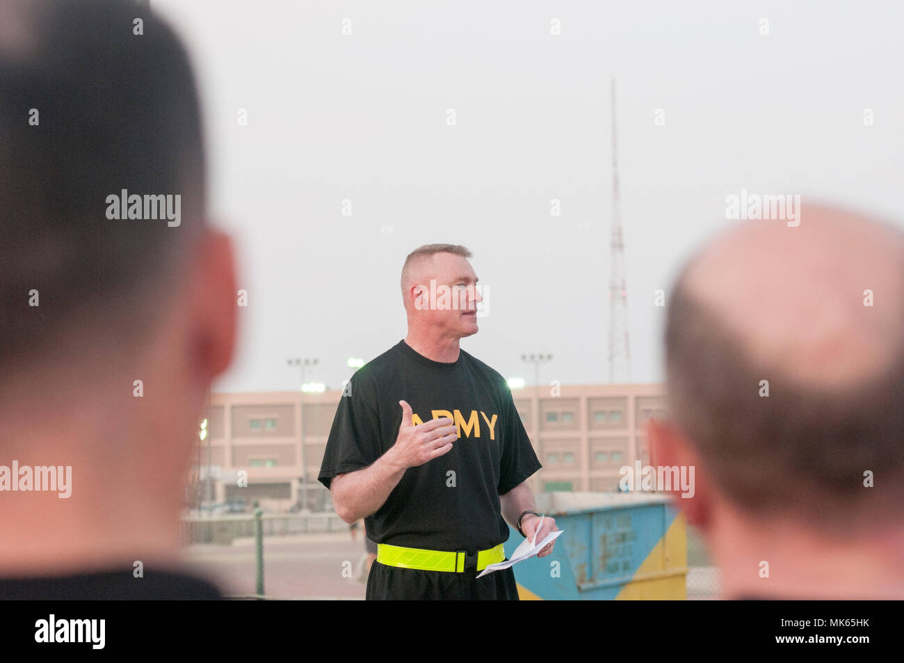 Maj. Gen. Terrence J. McKenrick gives Soldiers a brief history of ...