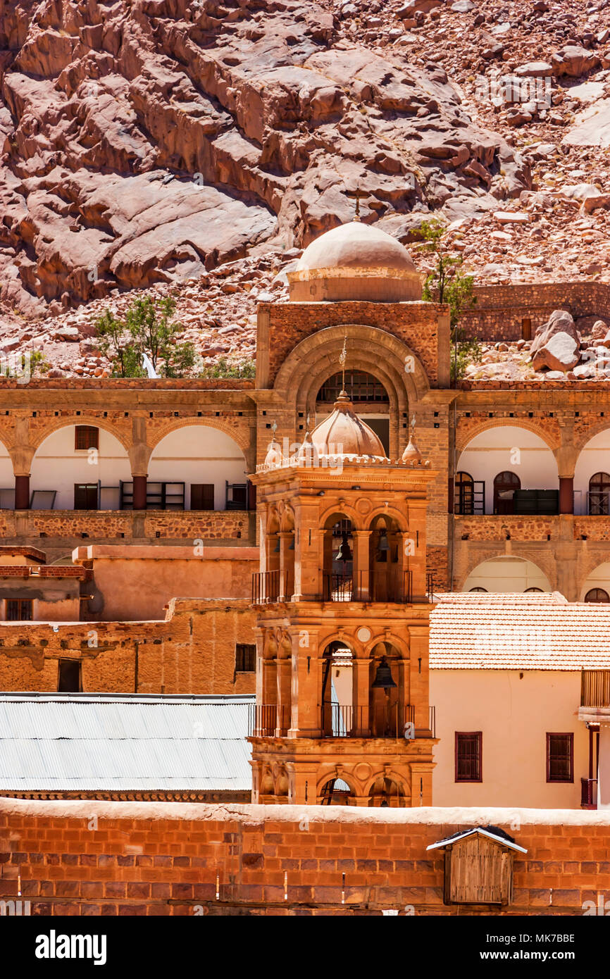 Bell tower of Saint Catherine's Monastery, Egypt - Stock Image