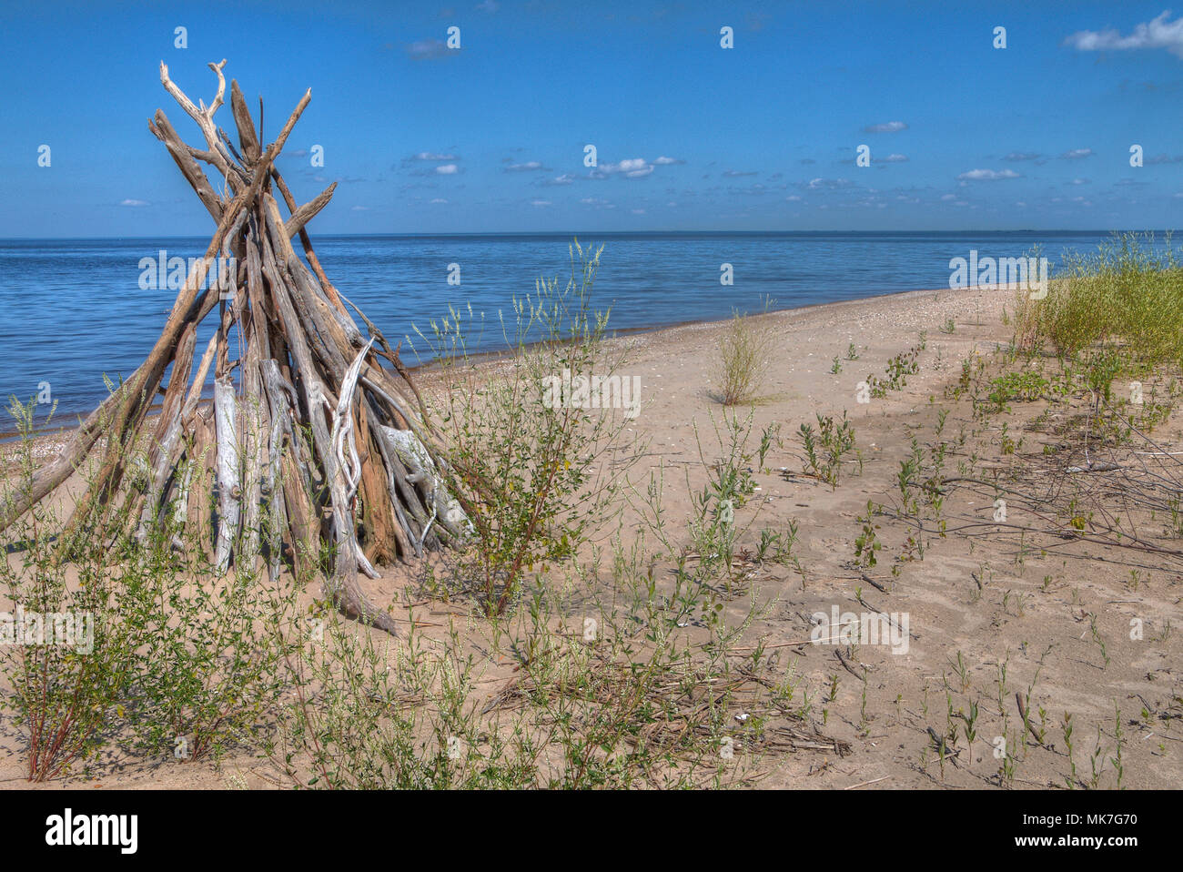 Zippel Bay is a state park in far north Minnesota on the