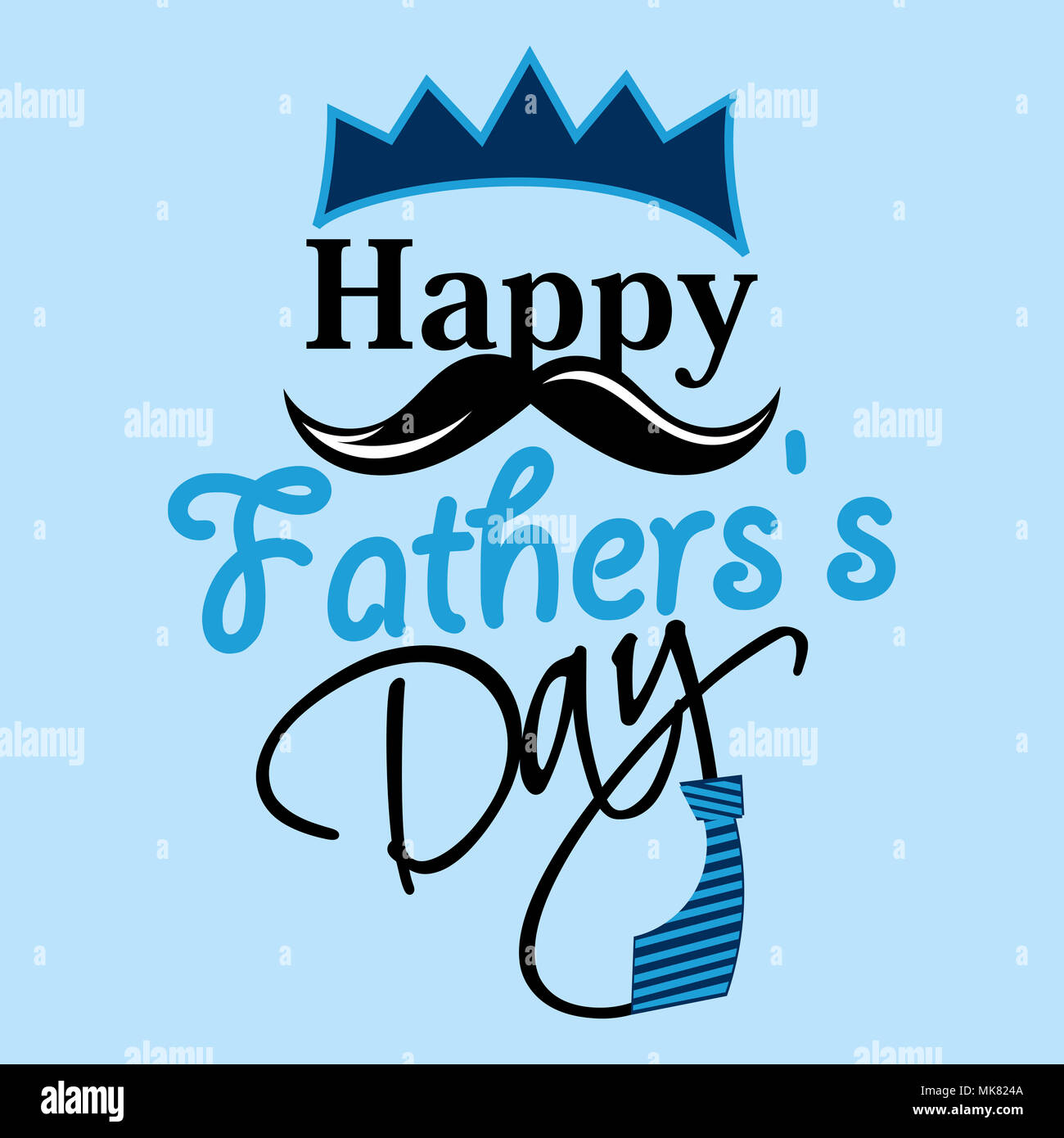 Happy fathers day greeting card stock photo 183959450 alamy happy fathers day greeting card m4hsunfo