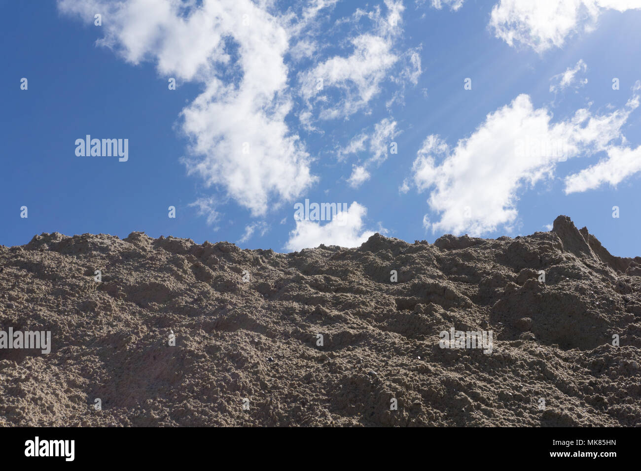 Rugged mountain against a blue sky. South Sinai desert, Egypt - Stock Image