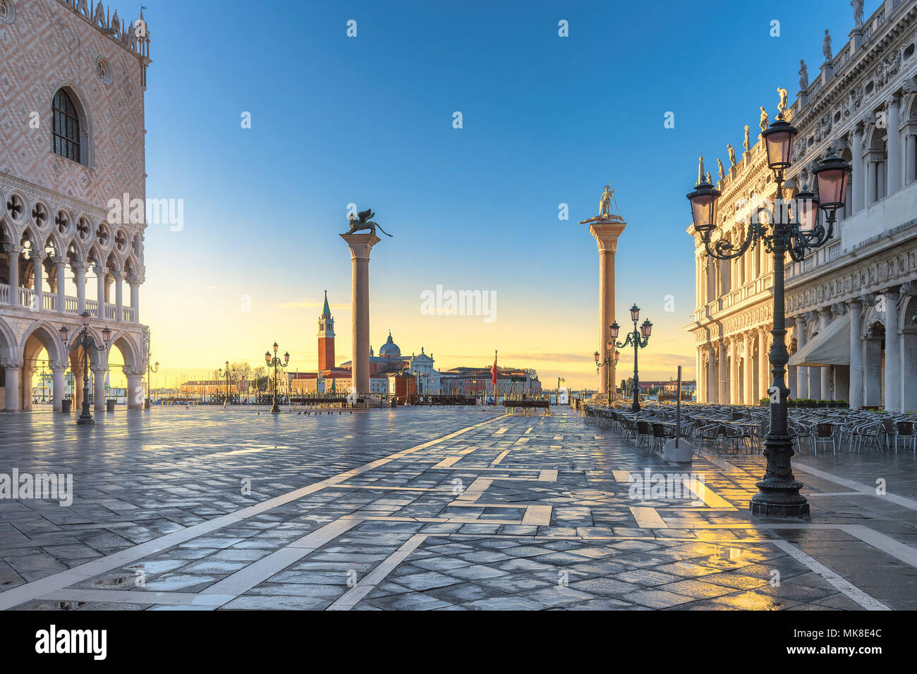 Venice at sunrise. San Marco, Ilaly. - Stock Image