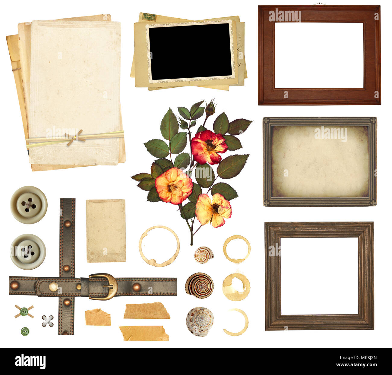 Set Of Elements For Scrapbooking Object Isolated On White