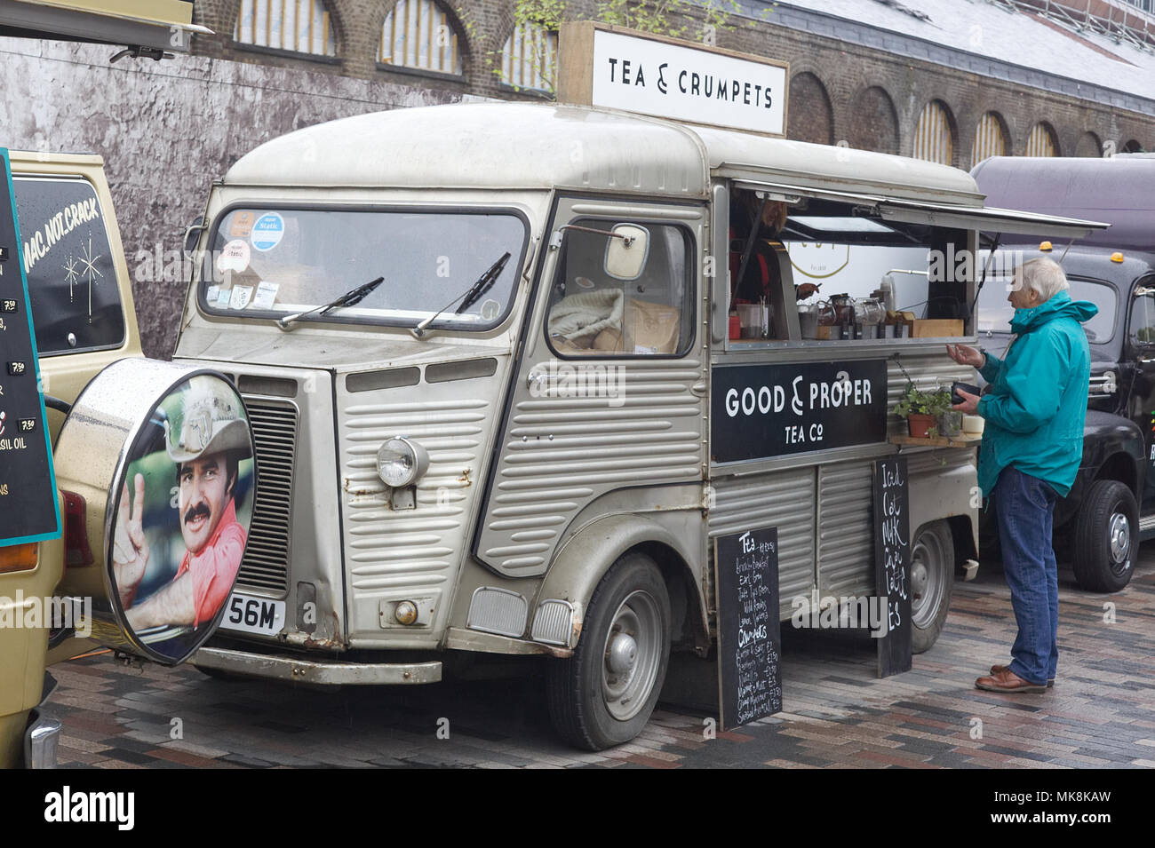 classic vintage car boot, London - Stock Image