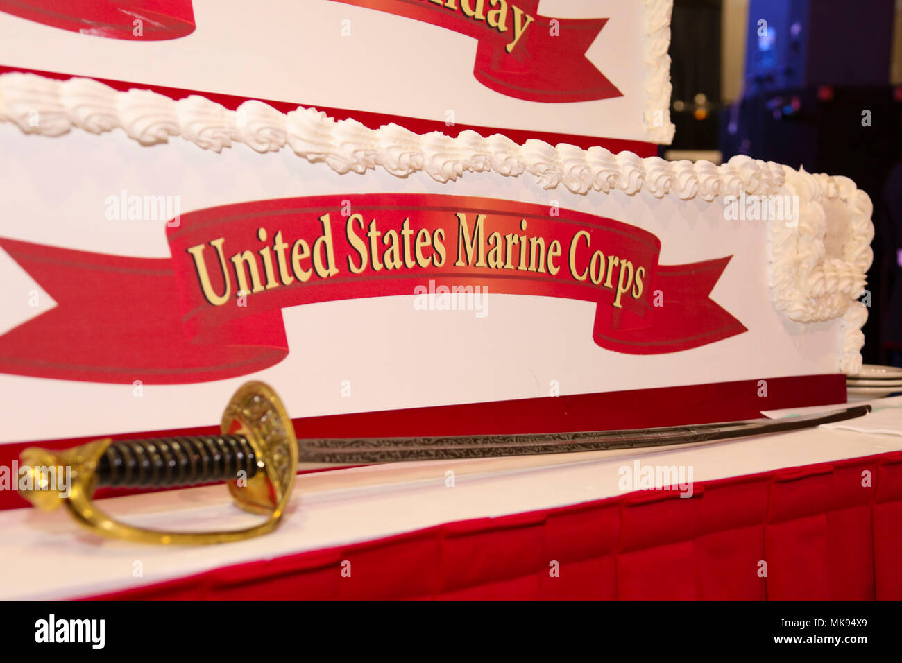 A Noncommissioned Officer Sword Sits On Display Next To The
