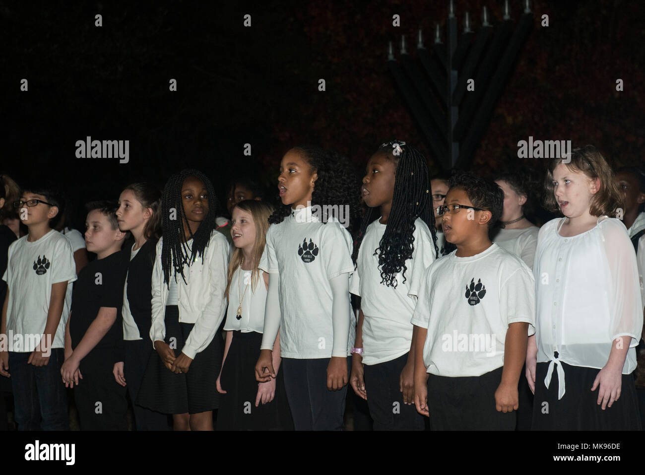 Students from High Hills Elementary School sing holiday