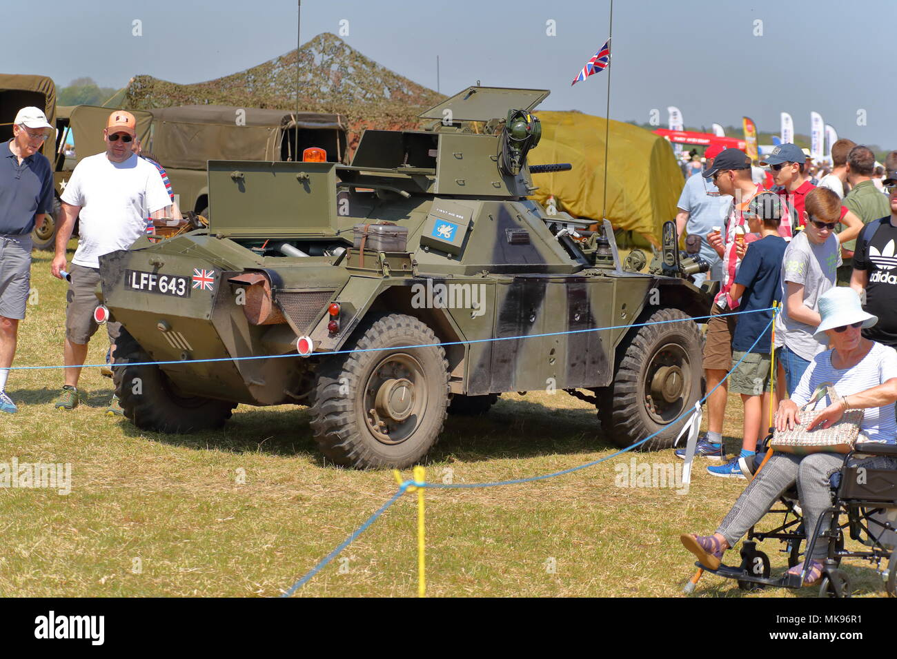 British Daimler Ferret military Scout Car at the Abingdon Air & Country Show - Stock Image
