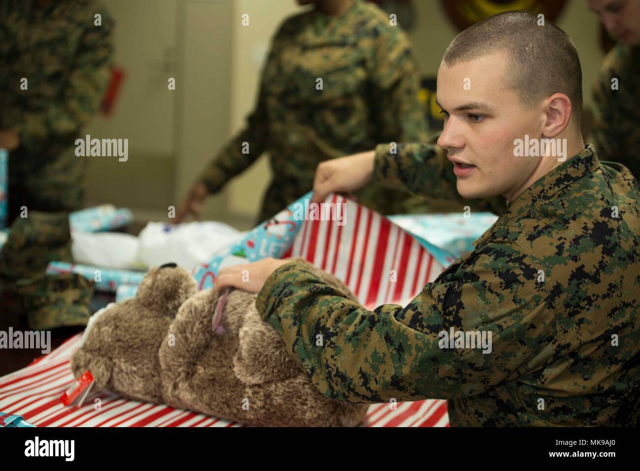 U.S. Marine Corps Cpl. Christopher March, an aviation electronic ...