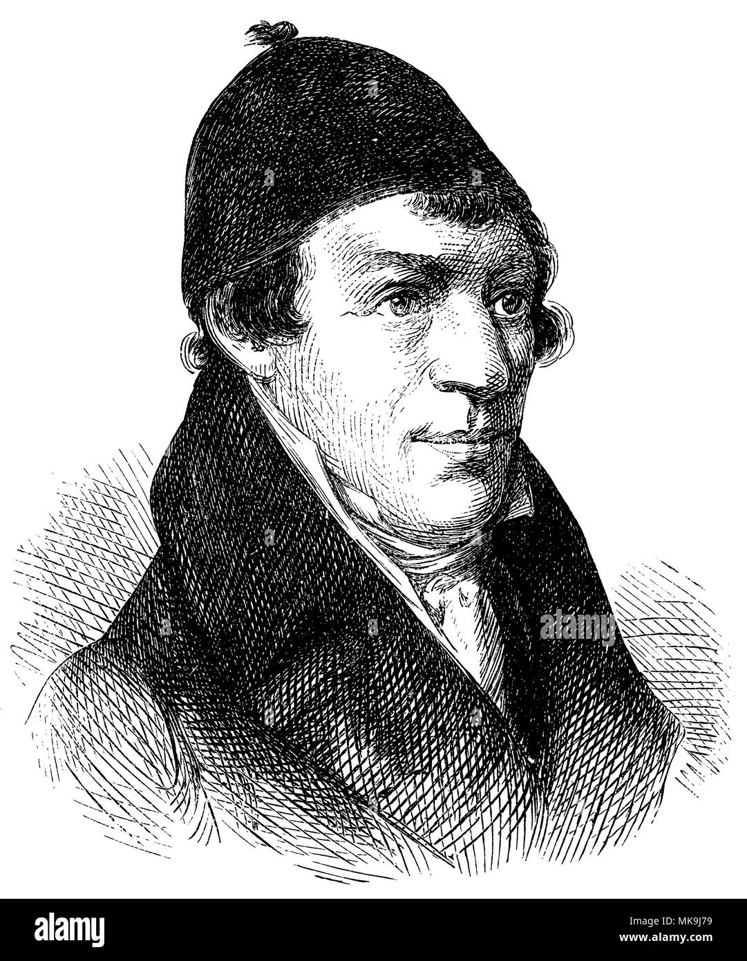 Johann Matthäus Bechstein (born July 11, 1757 , died February 23, 1822 ), Stock Photo