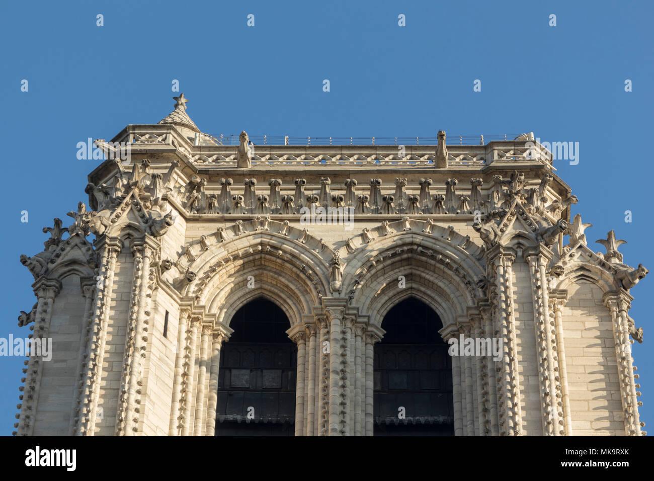 cathedral of Notre-Dame de Paris , France - Stock Image