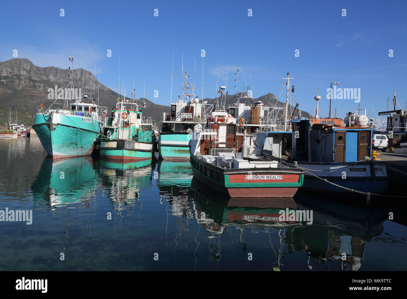 mariners wharf in hout bay south africa Stock Photo