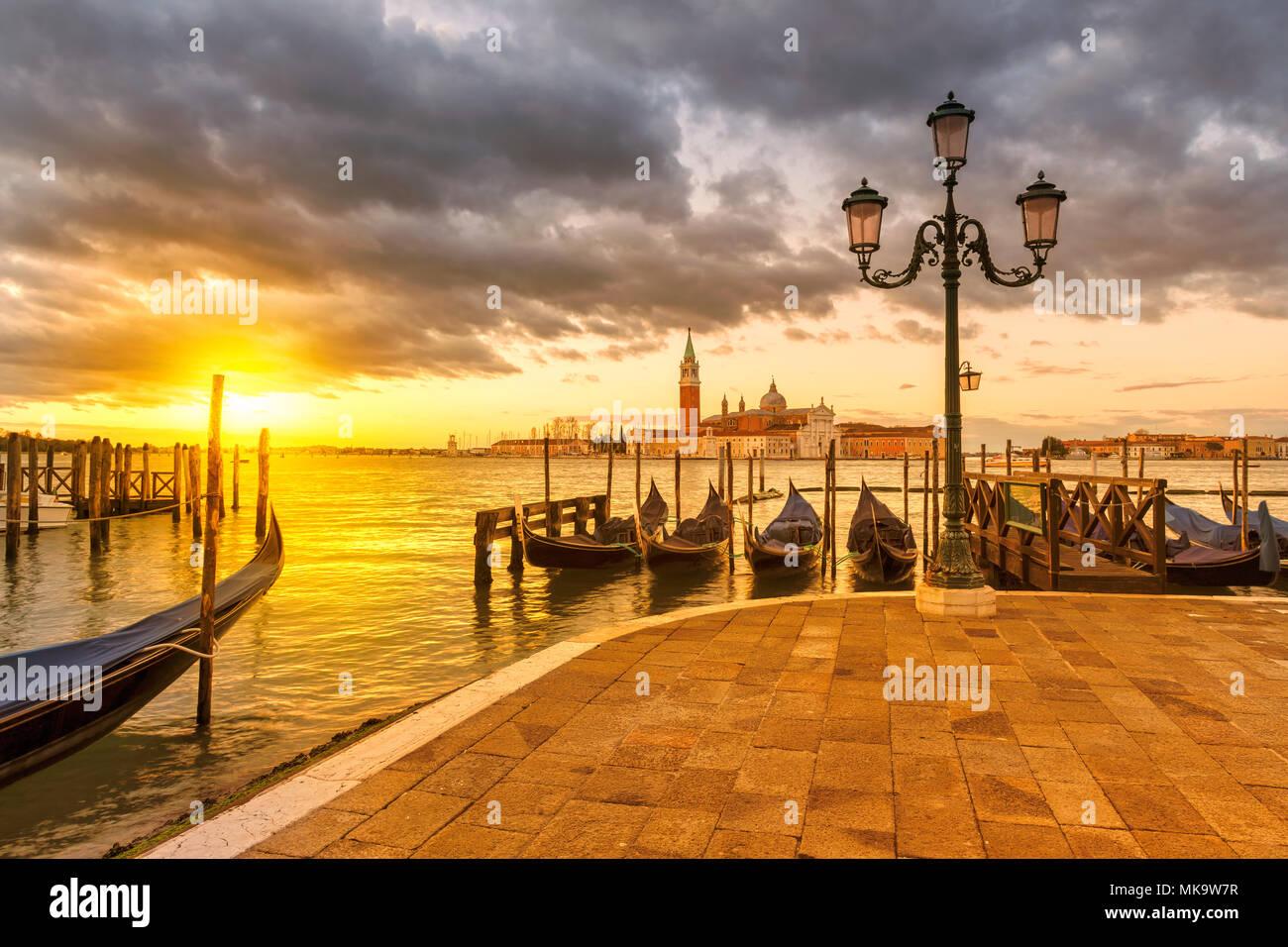 Venice sunrise, Italy - Stock Image