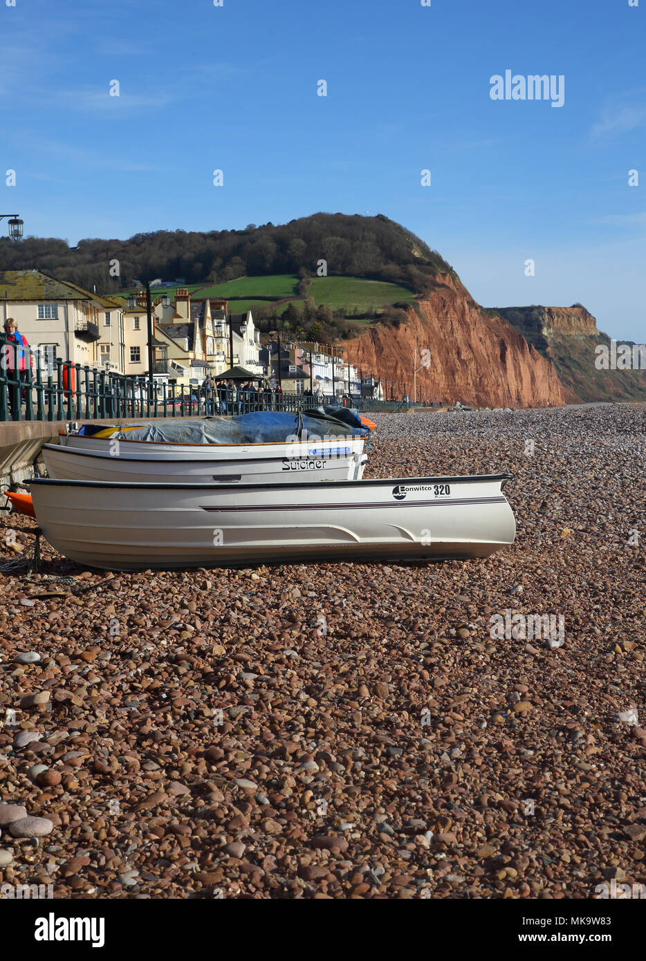 sidmouth on the south devon coast - Stock Image