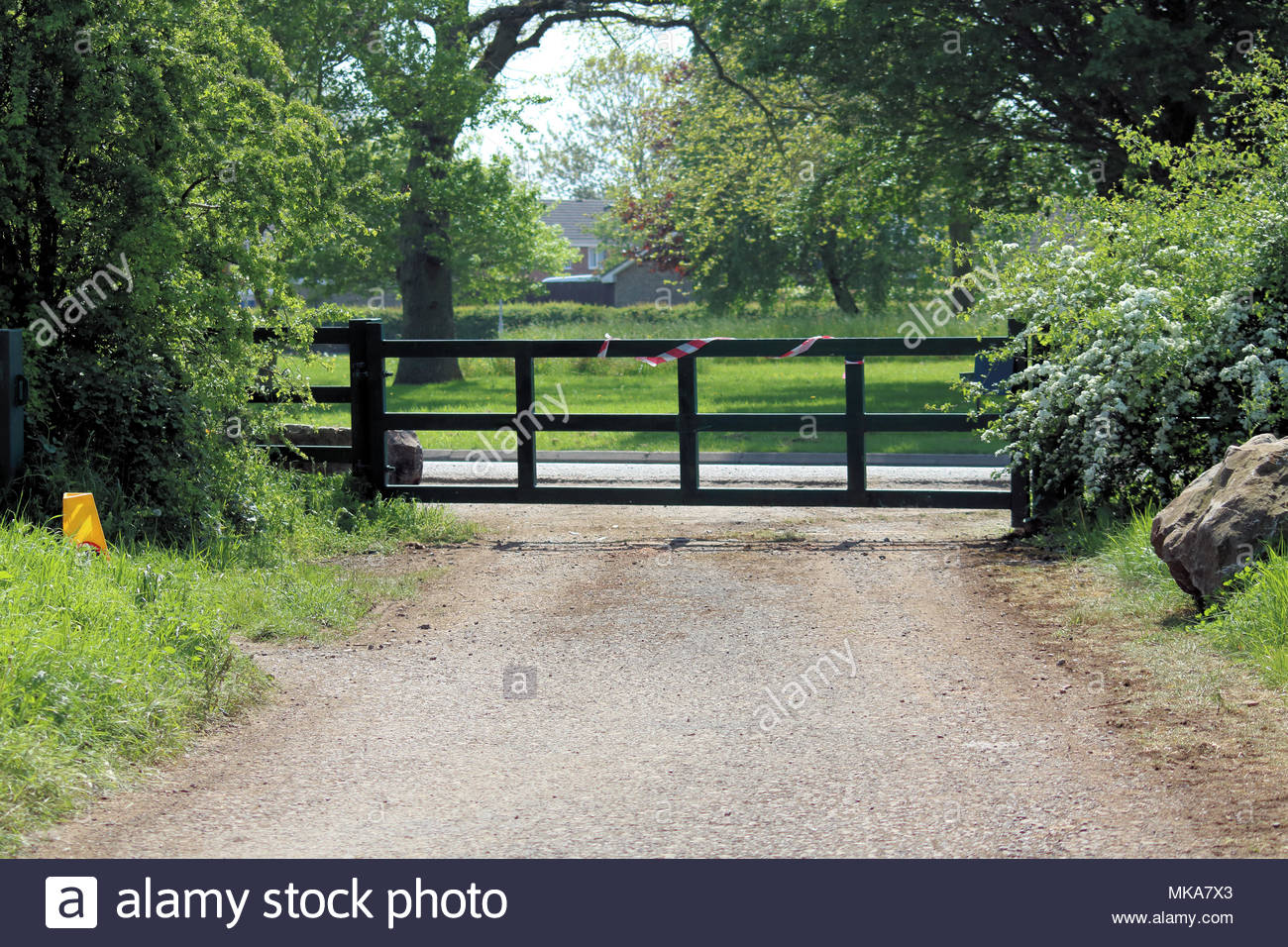 Road to Nowhere, used for TV filming, Yate, Bristol, UK Stock Photo