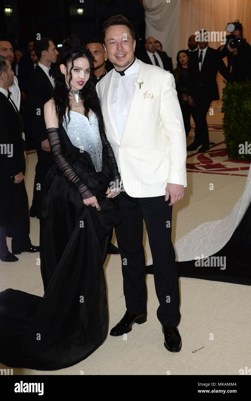 New York, NY, USA  7th May, 2018  Grimes, Elon Musk at arrivals for