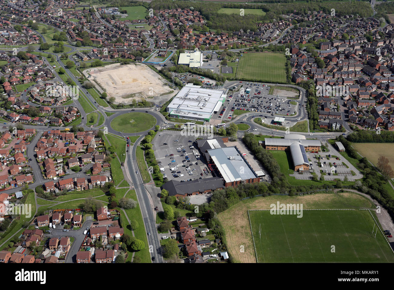 aerial view of the Belle Isle, Middleton area of Leeds, West Yorkshire - Stock Image