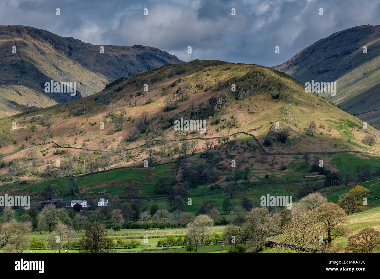 The Tongue, in Troutbeck Valley, near Windermere, Lake District, Cumbria - Stock Image
