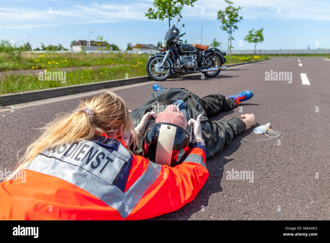 Motorcycle Crash Victim Stock Photos & Motorcycle Crash ...