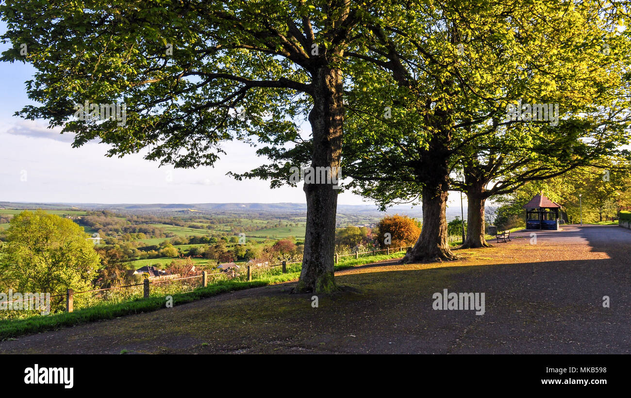 Looking out over the Blackmore Vale. - Stock Image