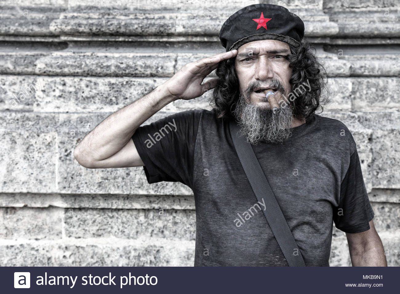 Cuban communist salute - Stock Image