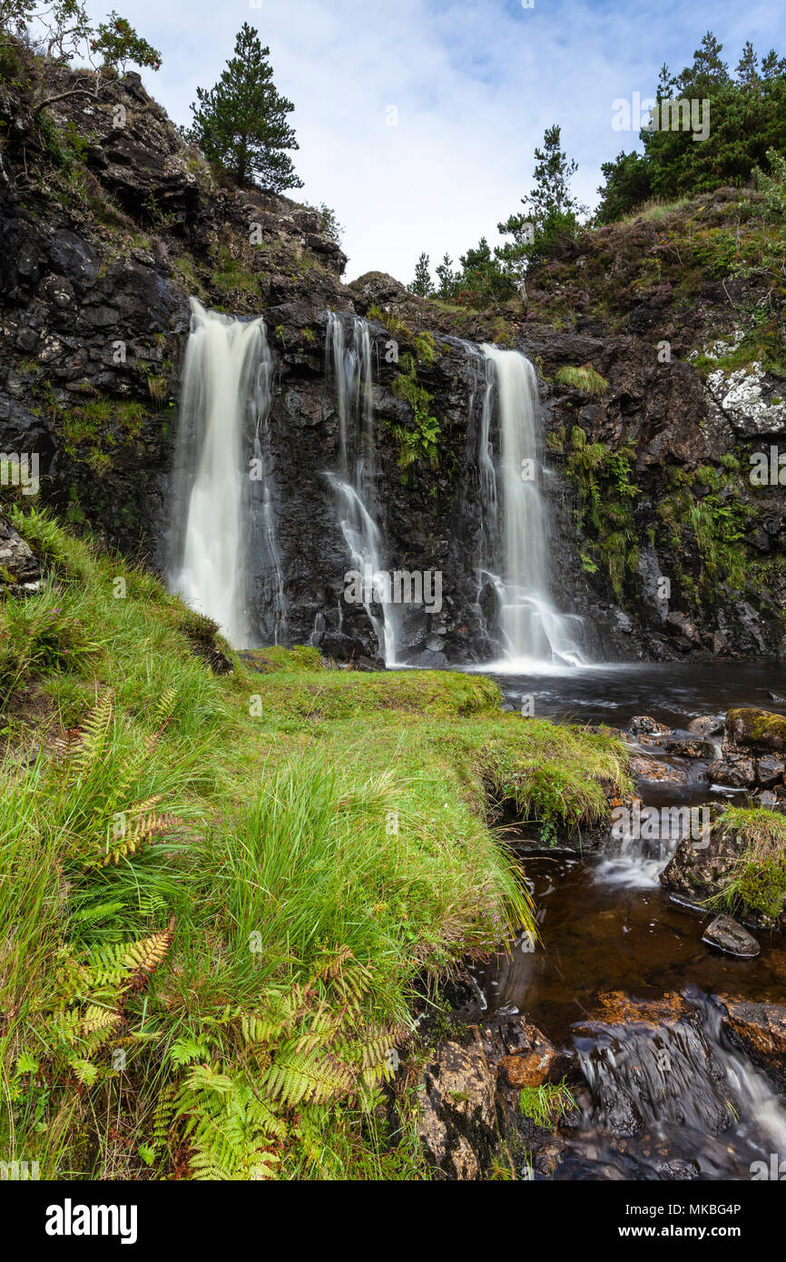 Waterfall near the Fairy Pools in Glen Brittle, Isle of Skye, Scotland, UK - Stock Image