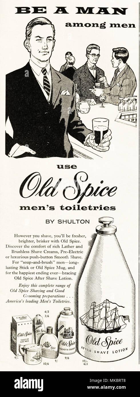 1950s Vintage Original Advertisement Advertising Old Spice After
