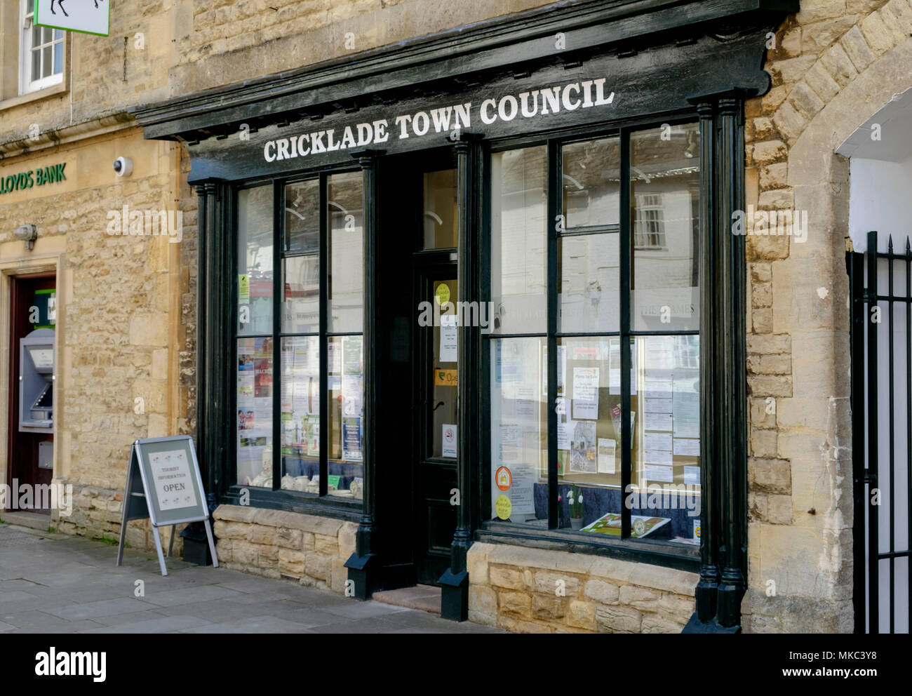 Cricklade is a small cotswold town in North Wiltshire England UK The Town council - Stock Image