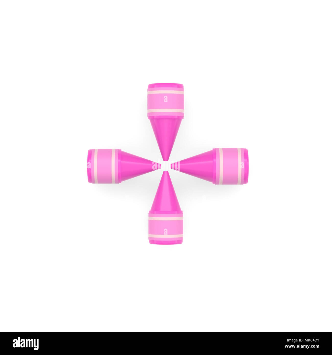 Pink Wax Crayon Mathematical Operation Symbol Of Sum Or Addition On