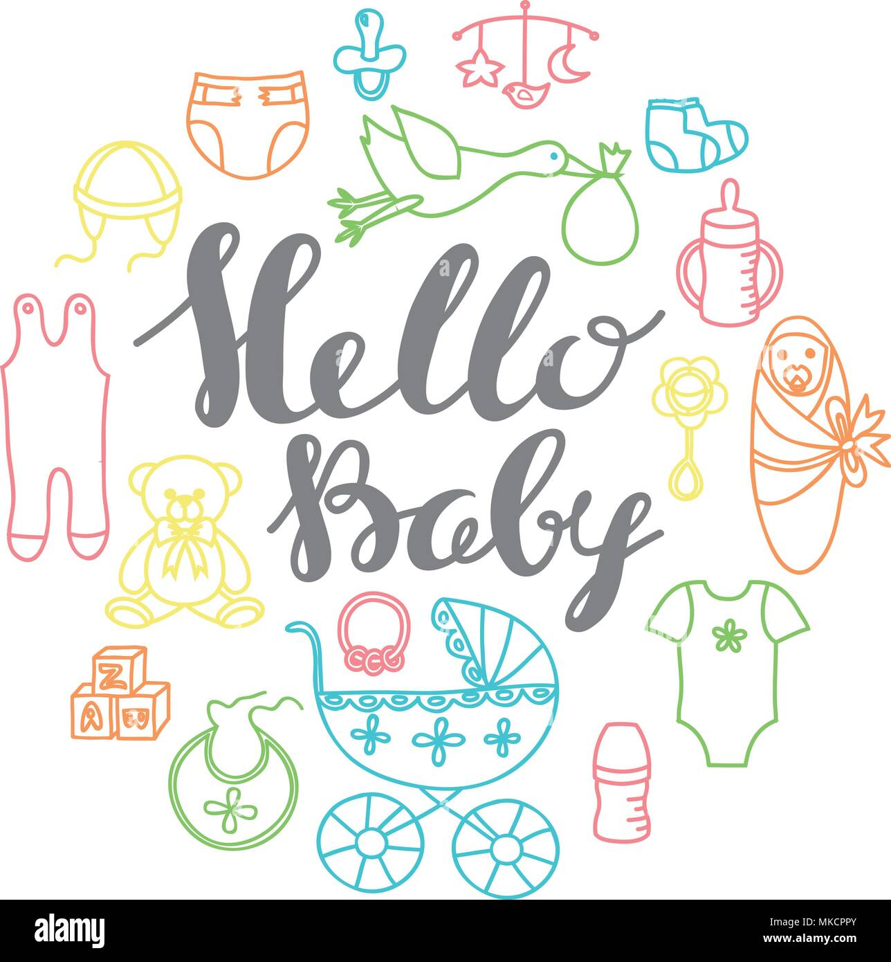 graphic about Baby Shower Card Printable named Child shower occasion greeting and invitation card