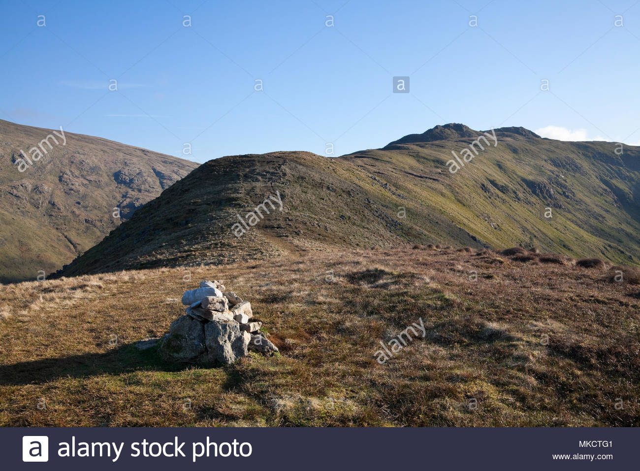 The summit of Little Hart Crag seen from High Hartsop Dodd, Lake District - Stock Image