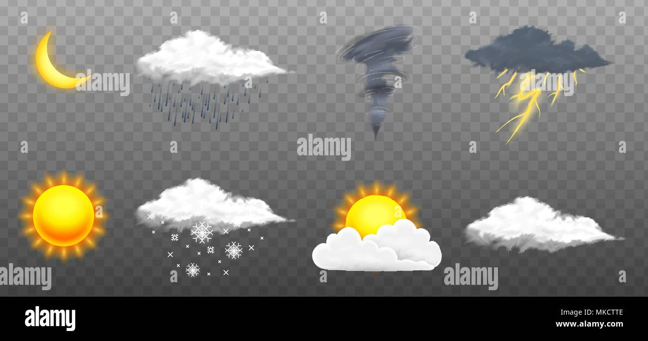 Weather Symbols Stock Photos & Weather Symbols Stock