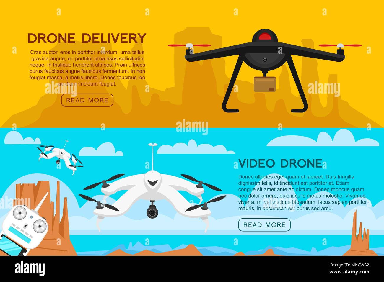 Modern air drones for card and remote control  Video and