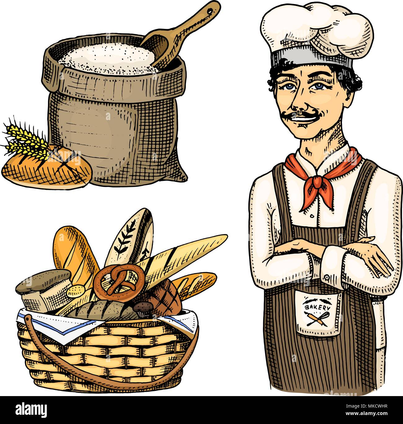 Baker Pastry Chef Cartoon Character Stock Photos Amp Baker