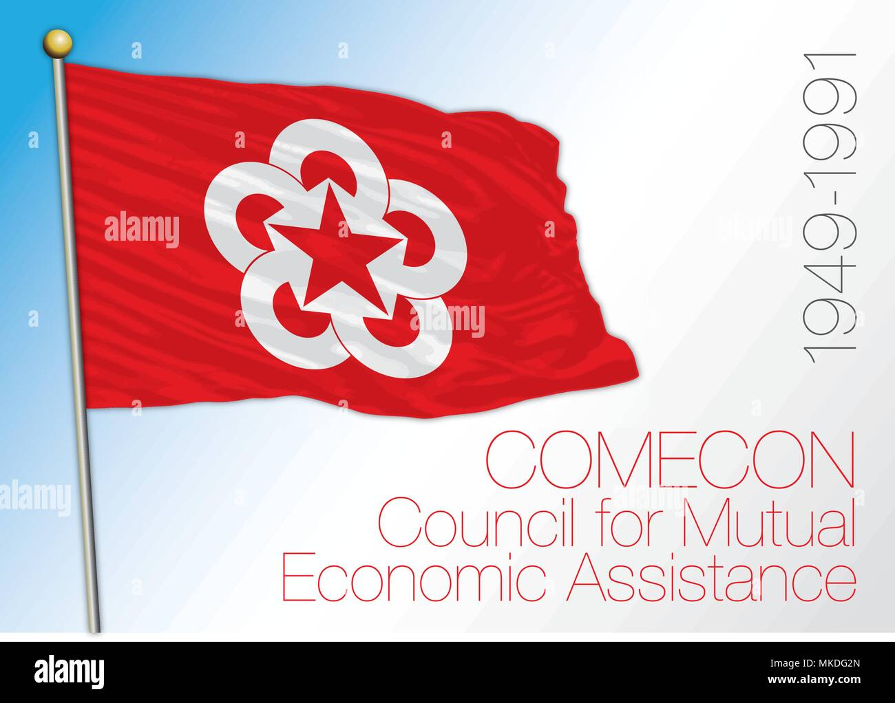 Comecon historical flag, 1945 - 1991 - Stock Vector