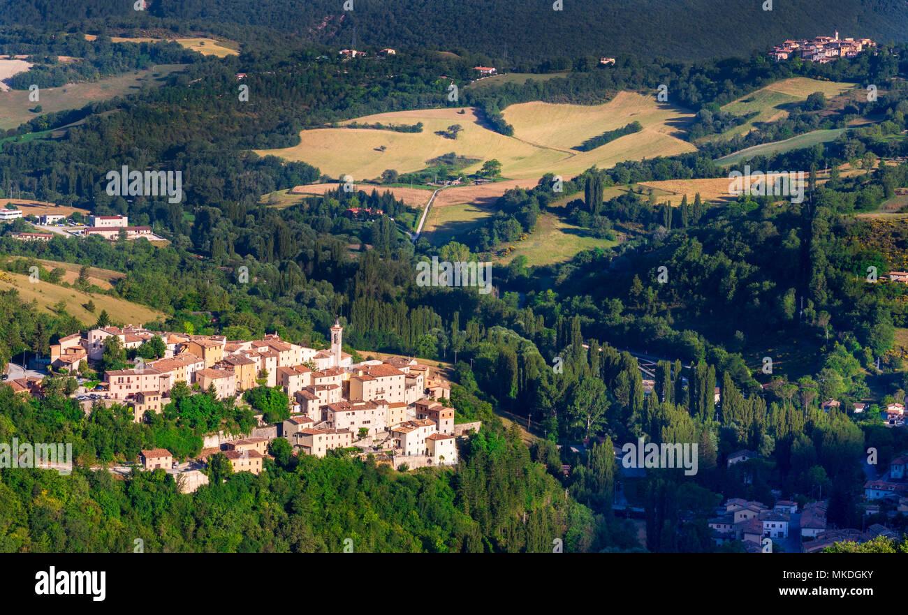 Todiano, Umbria, Italy - Stock Image