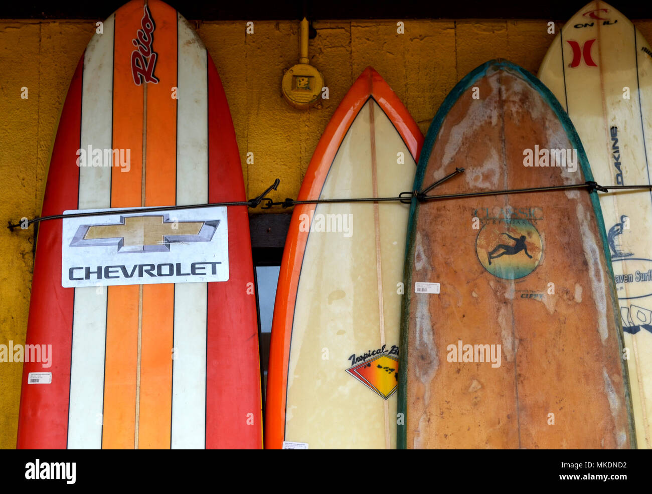 Old Surfboards Leaning Against Wall Stock Photo 184084350 Alamy
