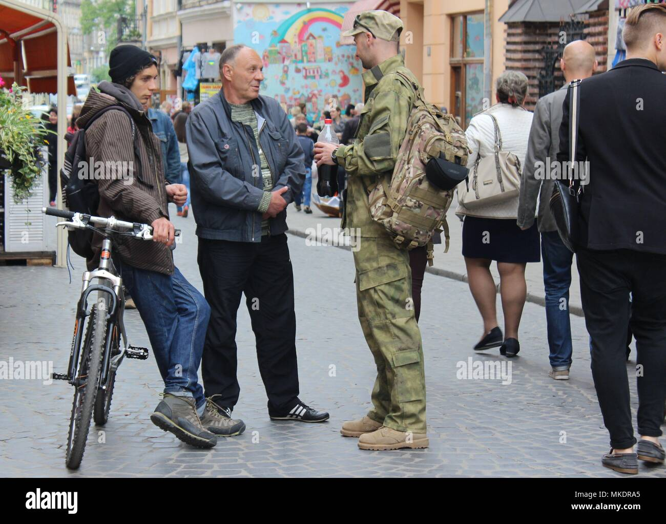 A Soldier Comes Back from Crimea War - Stock Image