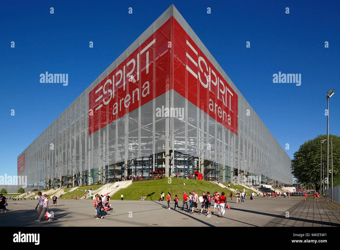 sports,football,2. Bundesliga,2017/2018,Fortuna Duesseldorf vs Holstein Kiel 1:1,Esprit arena Duesseldorf,stadium view,football fans - Stock Image